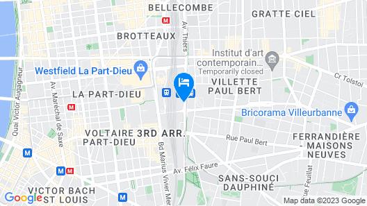 ibis Styles Lyon Centre - Gare Part Dieu Hotel Map