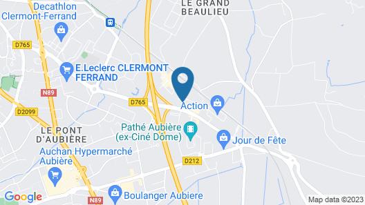 Ace Hotel Clermont-Ferrand La Pardieu Map