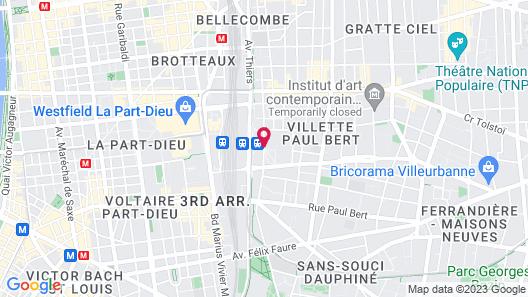 Campanile Lyon Centre - Gare Part Dieu Map