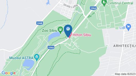 Hilton Sibiu Map