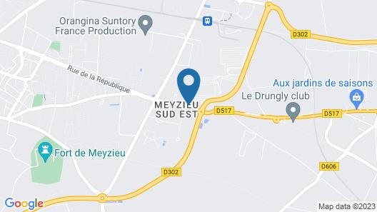 Hôtel des Lumières Map