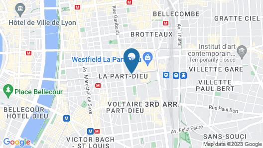 Radisson Blu Hotel Lyon Map