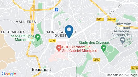 Comfort Hotel Clermont Saint-Jacques Map