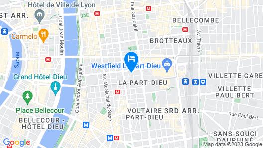 Citadines Part-Dieu Lyon Map