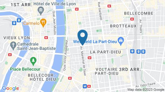 Mercure Lyon Centre Saxe Lafayette Map