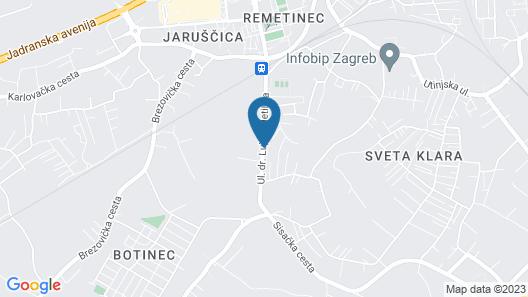 Guesthouse Noce Zagreb Map
