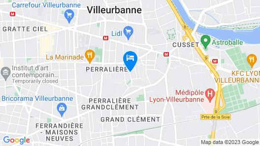 Apartment Villeurbanne Map