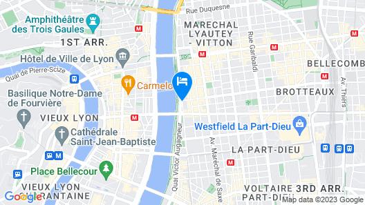 OKKO Hotels Lyon Pont Lafayette Map