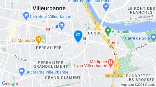 Maison d'hôtes Des Toits en Ville B&B Map