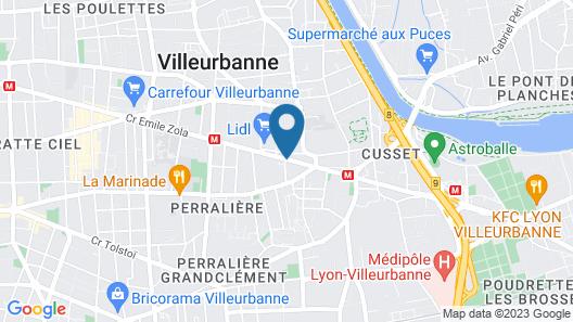 Appart'City Lyon Villeurbanne Map