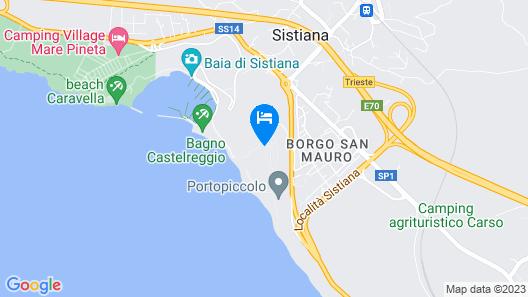Falisia, A Luxury Collection Resort & Spa, Portopiccolo Map