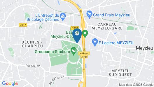 Kopster Hotel Lyon Groupama Stadium Map