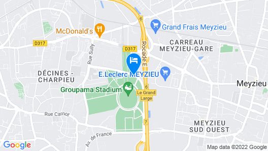 Kopster Hotel Lyon Groupama Stadium Map