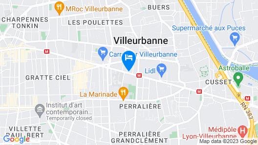 Appartement Lyon - Villeurbanne Map
