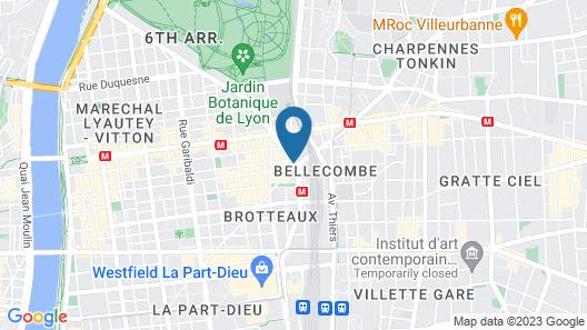 Hôtel Mercure Lyon Centre Brotteaux Map