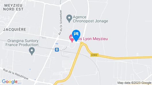 Kyriad Lyon Est - Meyzieu ZI - Aéroport Map