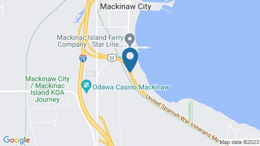 Mackinaw Beach & Bay Inn & Suites Map