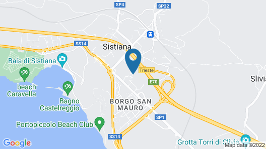 Residence Oliveto Mare Carso Map