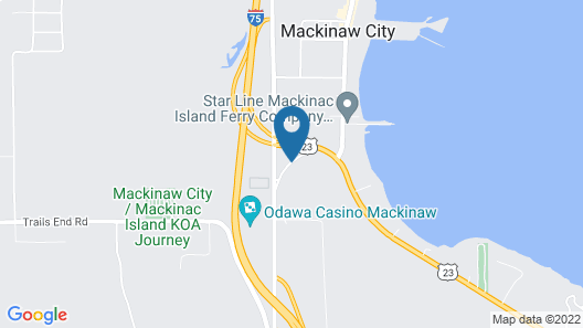 Mackinaw Budget Inn Map
