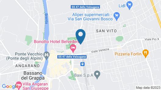 Bonotto Hotel Palladio Map