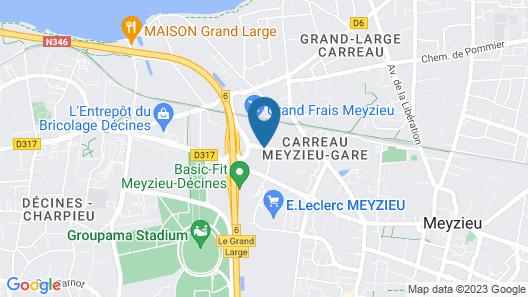 ibis Styles Lyon Meyzieu Stadium Olympique Map