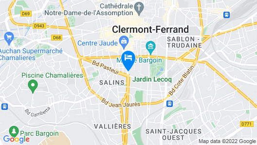 Oceania Clermont-Ferrand Map