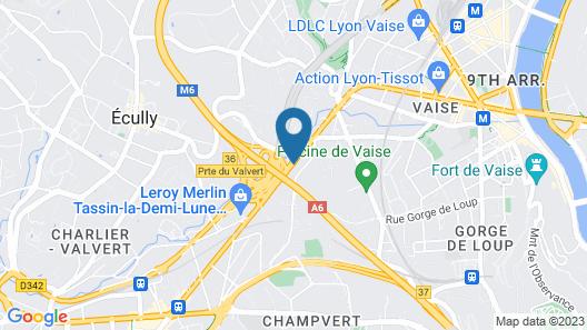 Residhotel Lyon Lamartine Map
