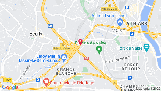 Holiday Inn Lyon Vaise Map