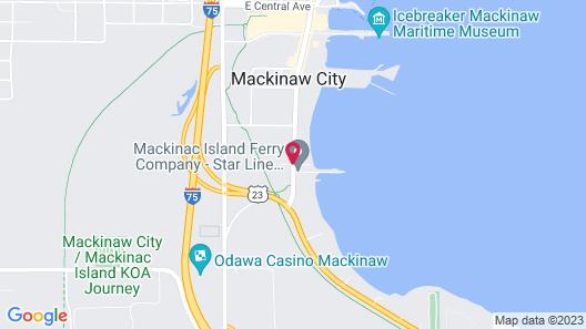 Bayside Hotel of Mackinac Map
