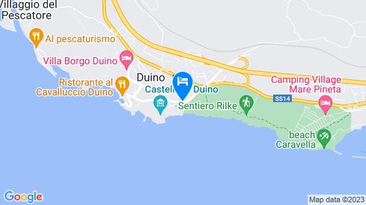 Hotel Aurora Duino Map