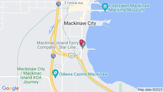 Econo Lodge Mackinaw City Map
