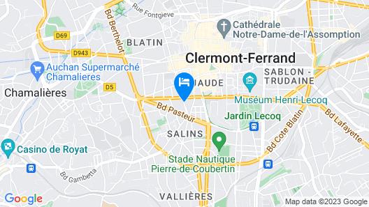Kyriad Clermont-Ferrand Centre Map