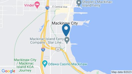 Cabins of Mackinaw Map
