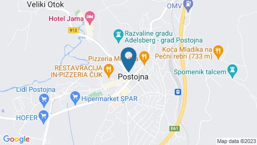 Postojna Cave Rooms & Apartments Proteus Map