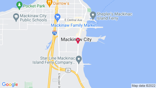 Super 8 by Wyndham Mackinaw City/Beachfront Area Map