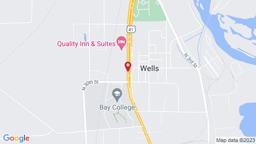 Super 8 by Wyndham Escanaba Map