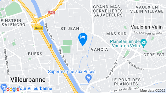 House With 8 Bedrooms in Villeurbanne, With Wifi Map
