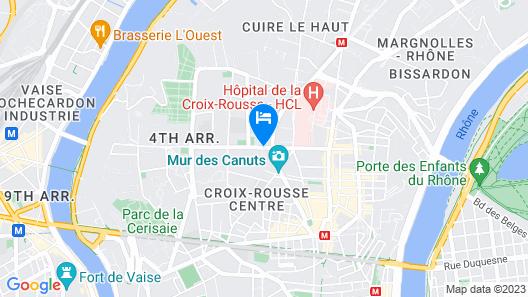 ibis Styles Lyon Croix Rousse Map