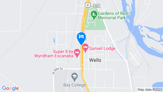 Quality Inn And Suites Escanaba Map