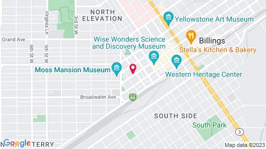 Western Inn Motel Billings Map
