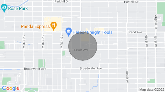 Modern Masterpiece - Airport/downtown/hospitals Map