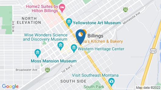 DoubleTree by Hilton Hotel Billings Map