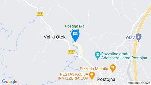 Postojna Cave Hotel Jama Map