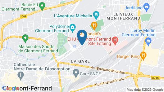 Novotel Suites Clermont Ferrand Polydome Map