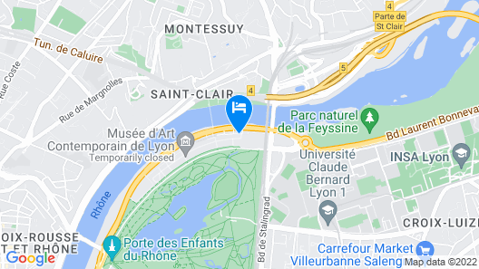 Crowne Plaza Lyon - Cite Internationale Map