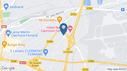 HotelF1 Clermont-Ferrand East renovated) Map