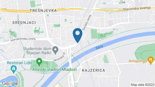 Hotel & Hostel Zagreb Map