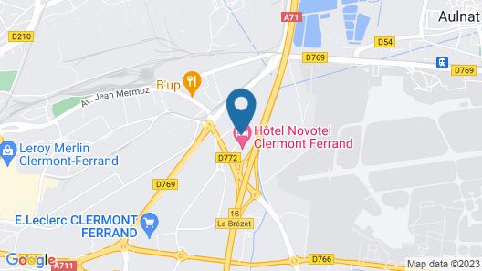 Novotel Clermont Ferrand Map