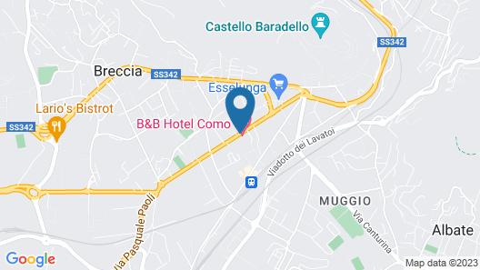 B&B Hotel Como Map