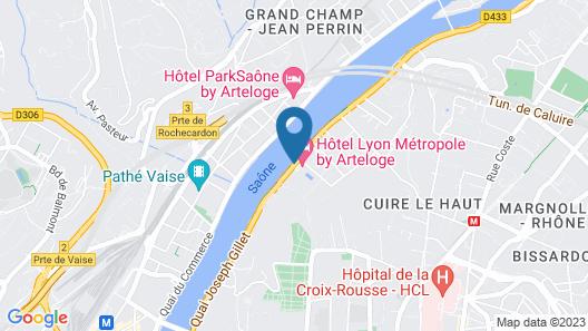 Hotel Lyon Métropole Map